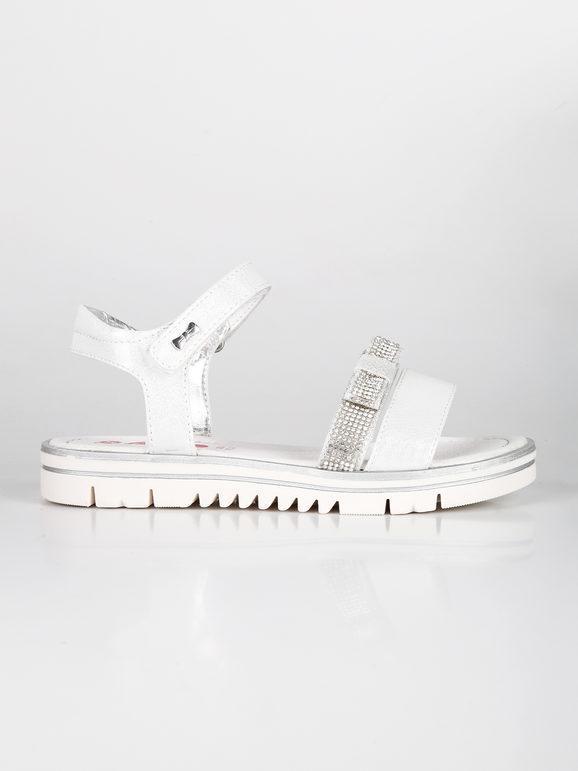 Sandali bassi con strass