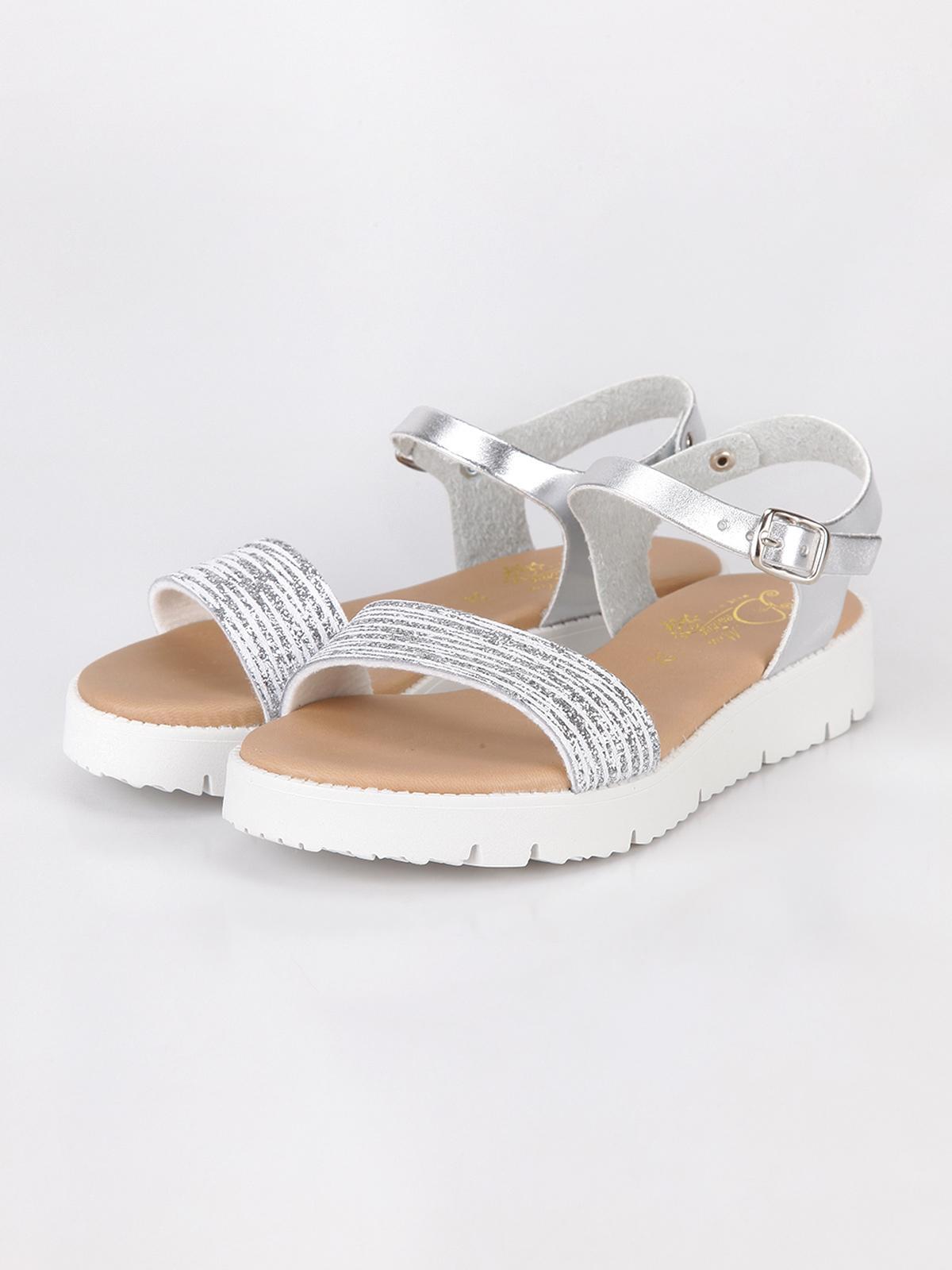 sports shoes 7b1d6 b46c4 Sandali bimba argento miss desiree | MecShopping