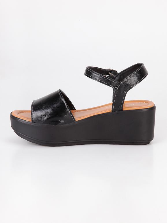 sale retailer 2b34c cc3bb 5de1408 sandali con para a contrasto neri solo soprani ...