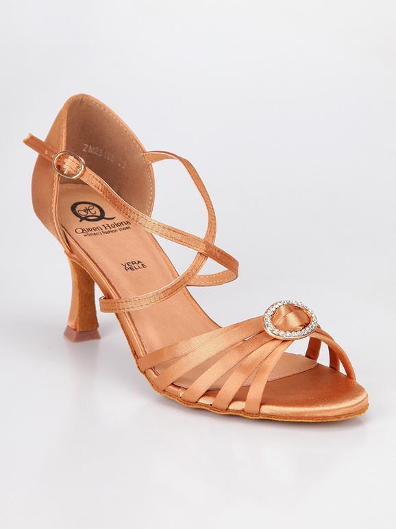 Sandali da ballo con gioiello bronzo queen helena