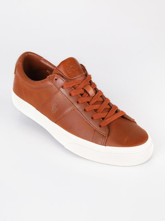 Sayer Sneakers basse in pelle marrone ralph lauren