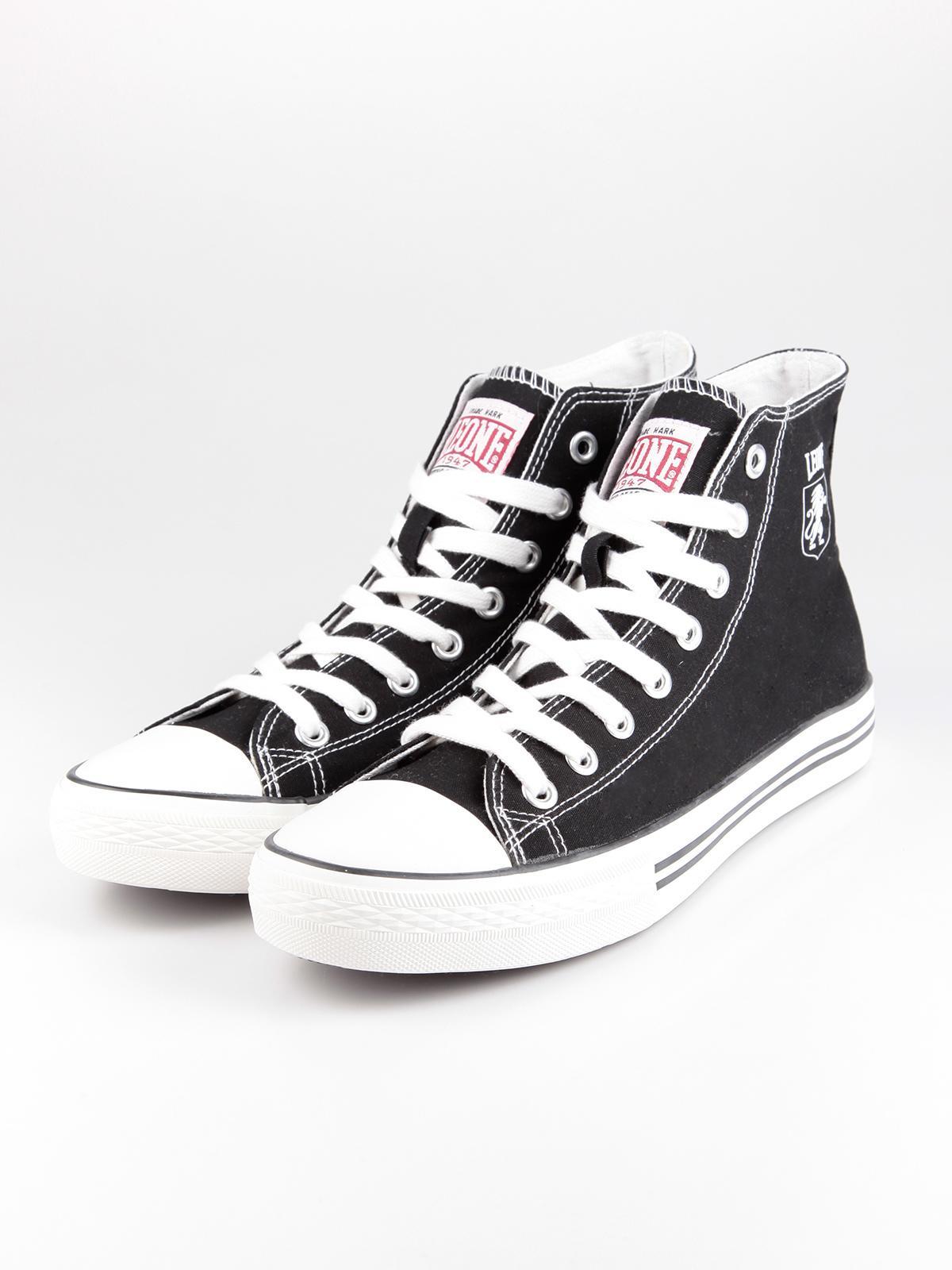 Scarpe nere di tela uomo