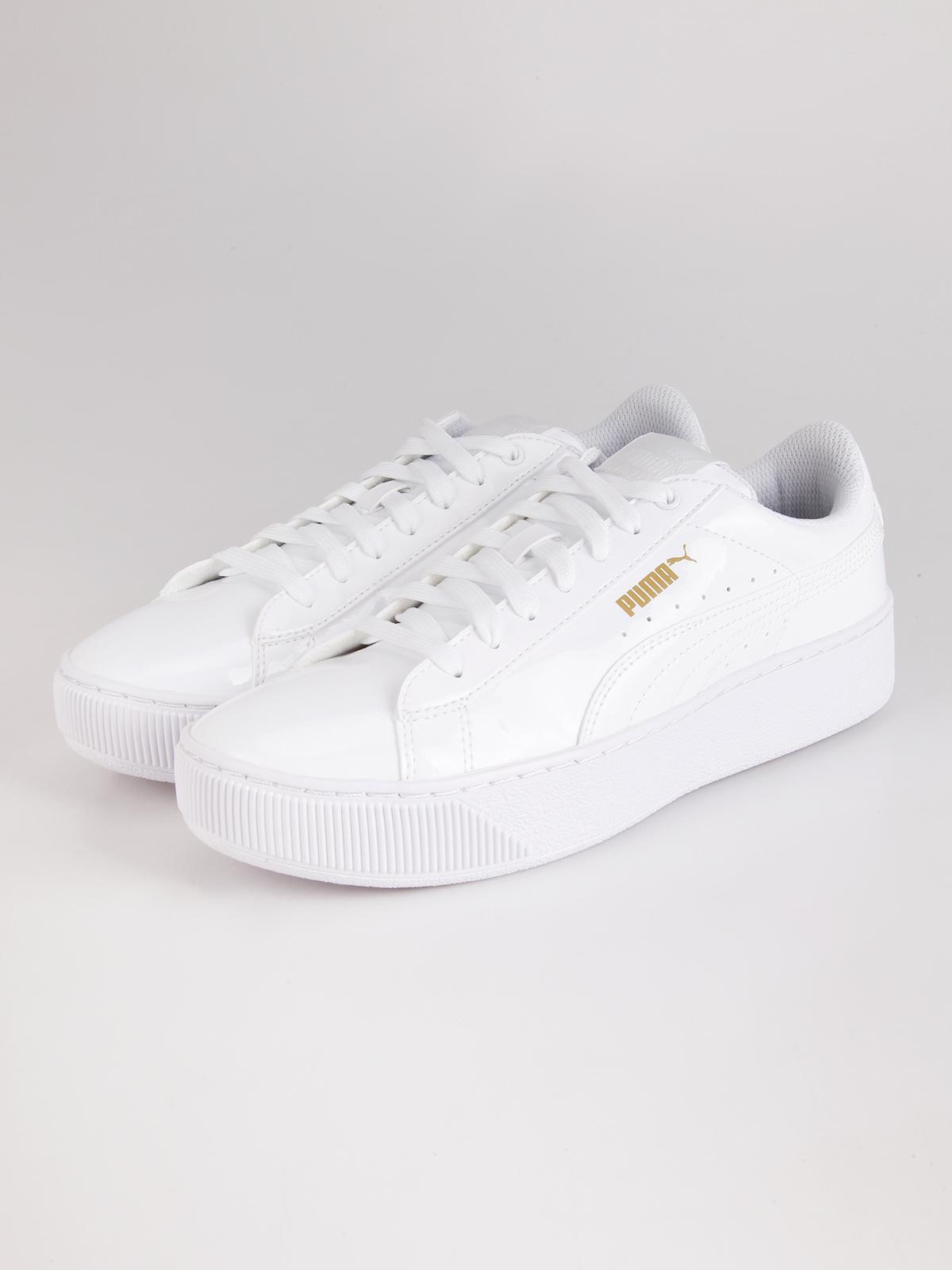 Scarpe casual Puma vikky platform patent Bianco puma