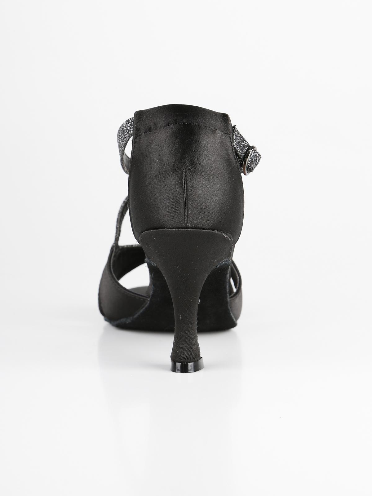 60% economico buona qualità bellissimo a colori Scarpe da ballo nere con tacco e brillantini queen helena ...