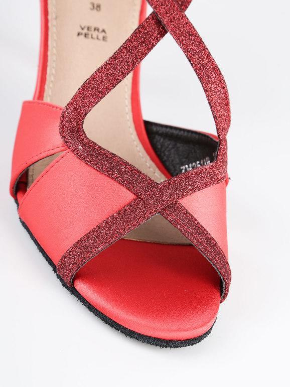 in vendita online alta qualità più nuovo di vendita caldo Scarpe da ballo rosse con tacco e brillantini queen helena ...