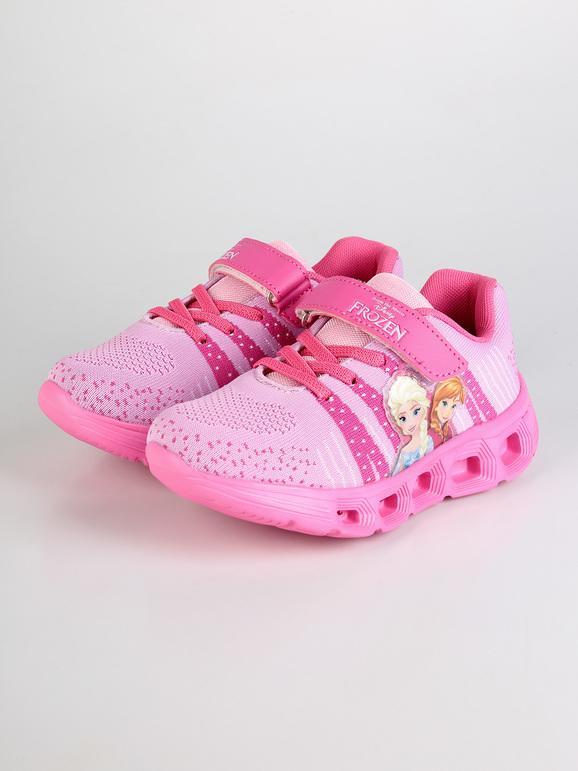 new style 0fa78 4c9c9 Scarpe da ginnastica rosa con luci - Anna e Elsa disney ...