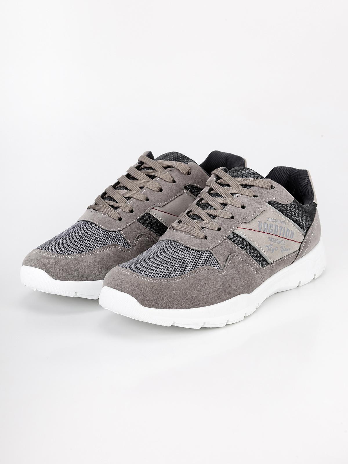 Scarpe estive casual da uomo grigio scatti | MecShopping