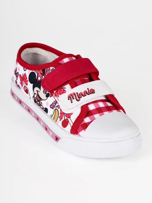 Disney Scarpe Minnie in tela con strappi e luci: Sneakers Basse