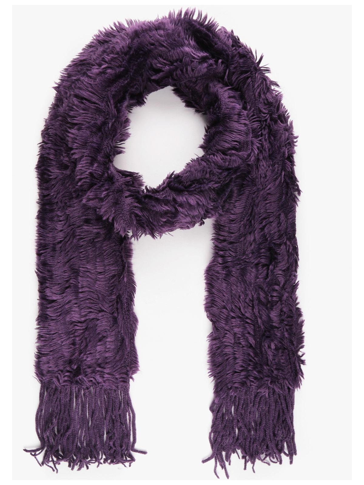 offrire sconti vivido e di grande stile la vendita di scarpe Sciarpa misto lana con pelo e frange solada | MecShopping