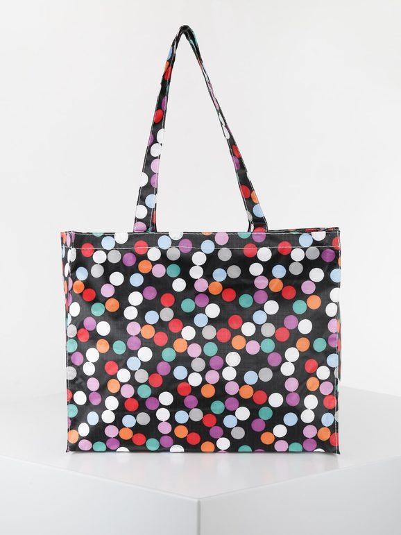 Shopper colorata in tessuto
