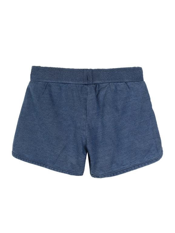 Shorts in cotone effetto jeans