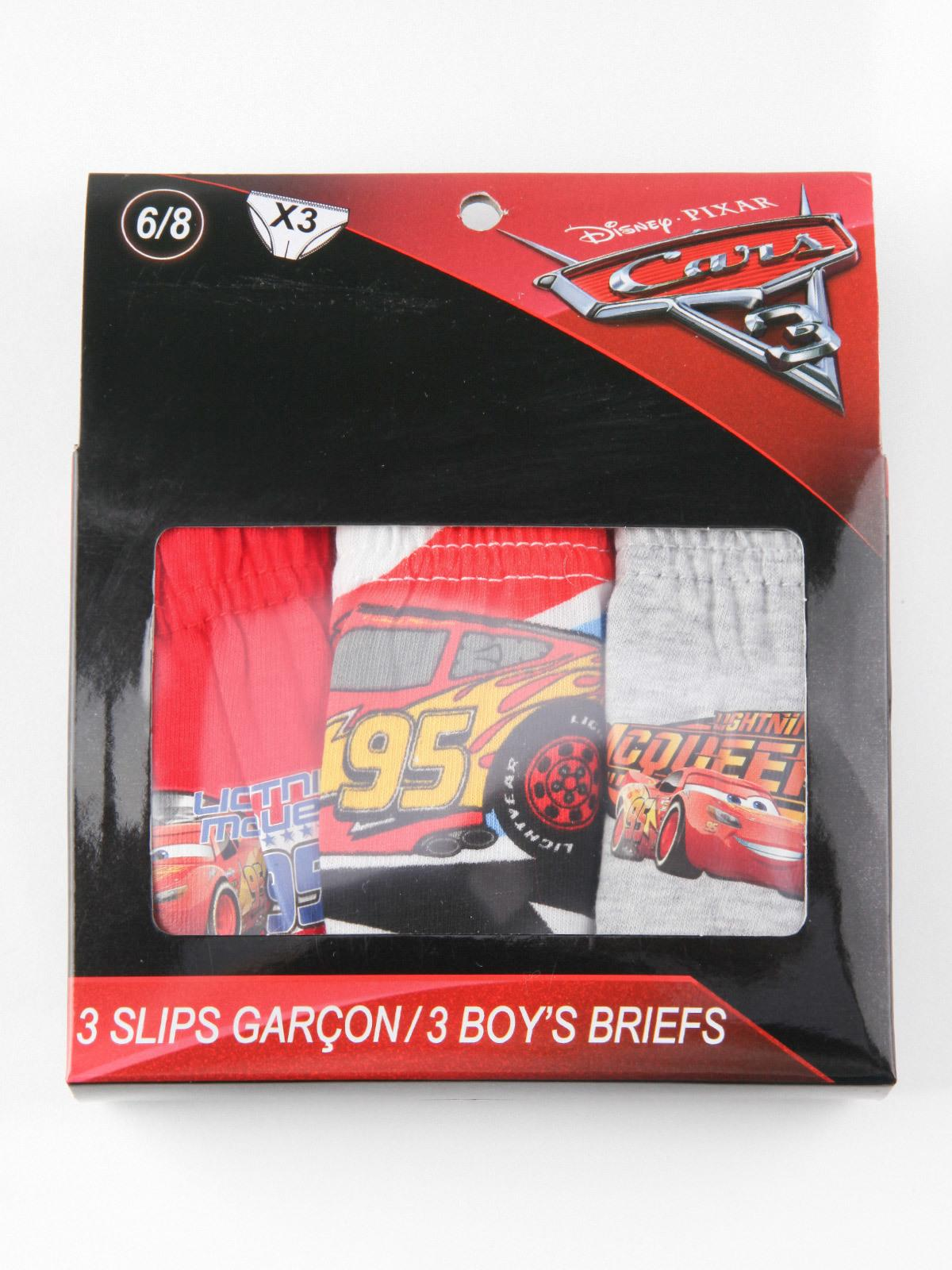 Disney Cars 3 Boys 6 Pezzi Slip//Mutande