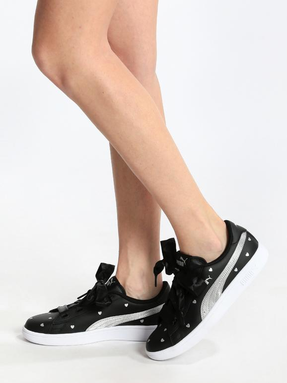 puma scarpe pelle nere