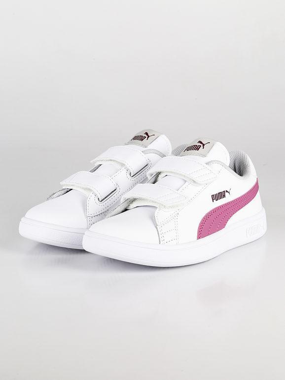 puma scarpe bianche e rosa