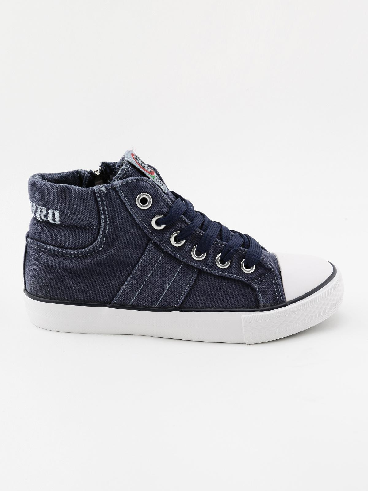 Sneakers alte stringate in tela canguro | MecShopping