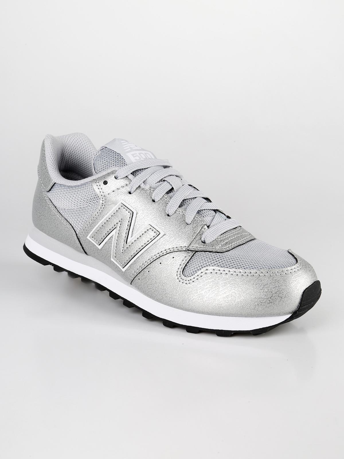 new balance argento e nero