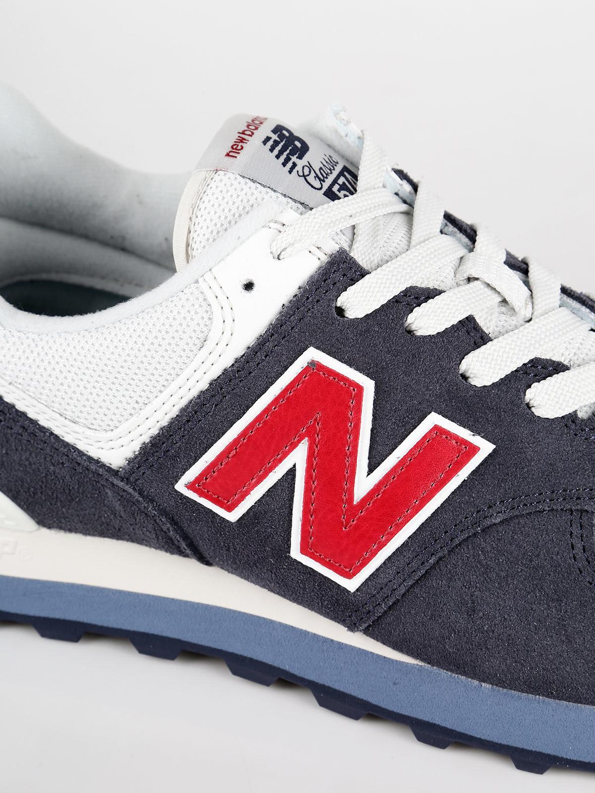 brand new 033c2 a5ed8 Sneakers basse in pelle e tessuto blu - ML574ESC new balance ...