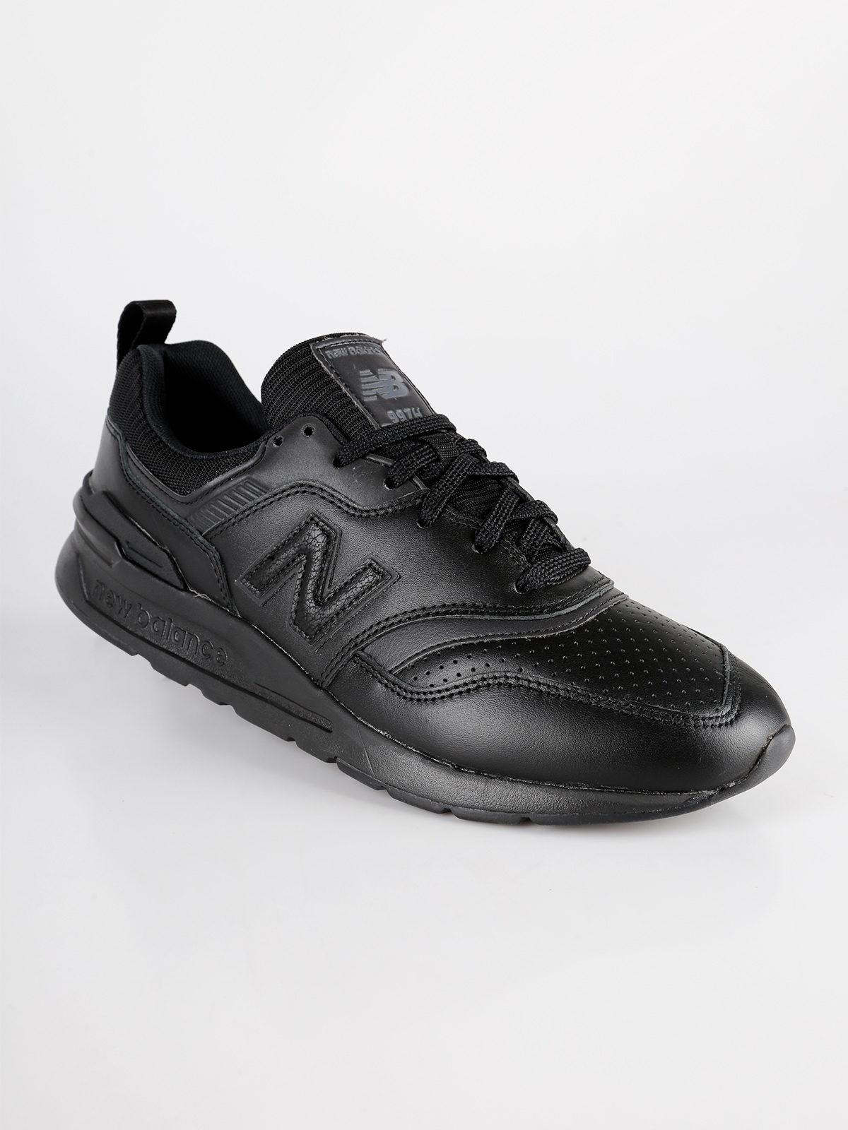 scarpe uomo new balance nera pelle