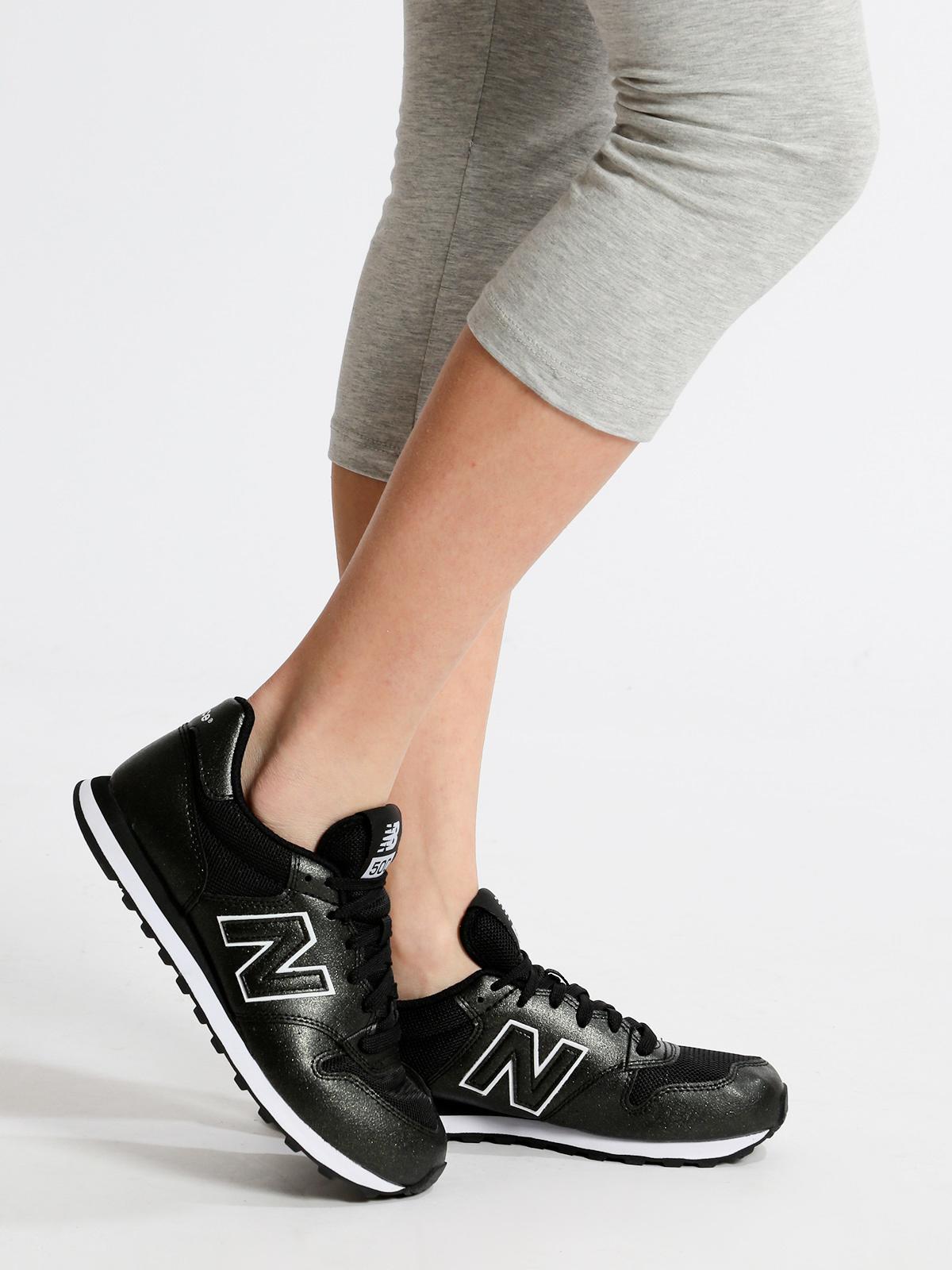 New Balance Sneakers basse nere in pelle e tessuto - GW500MBB ...