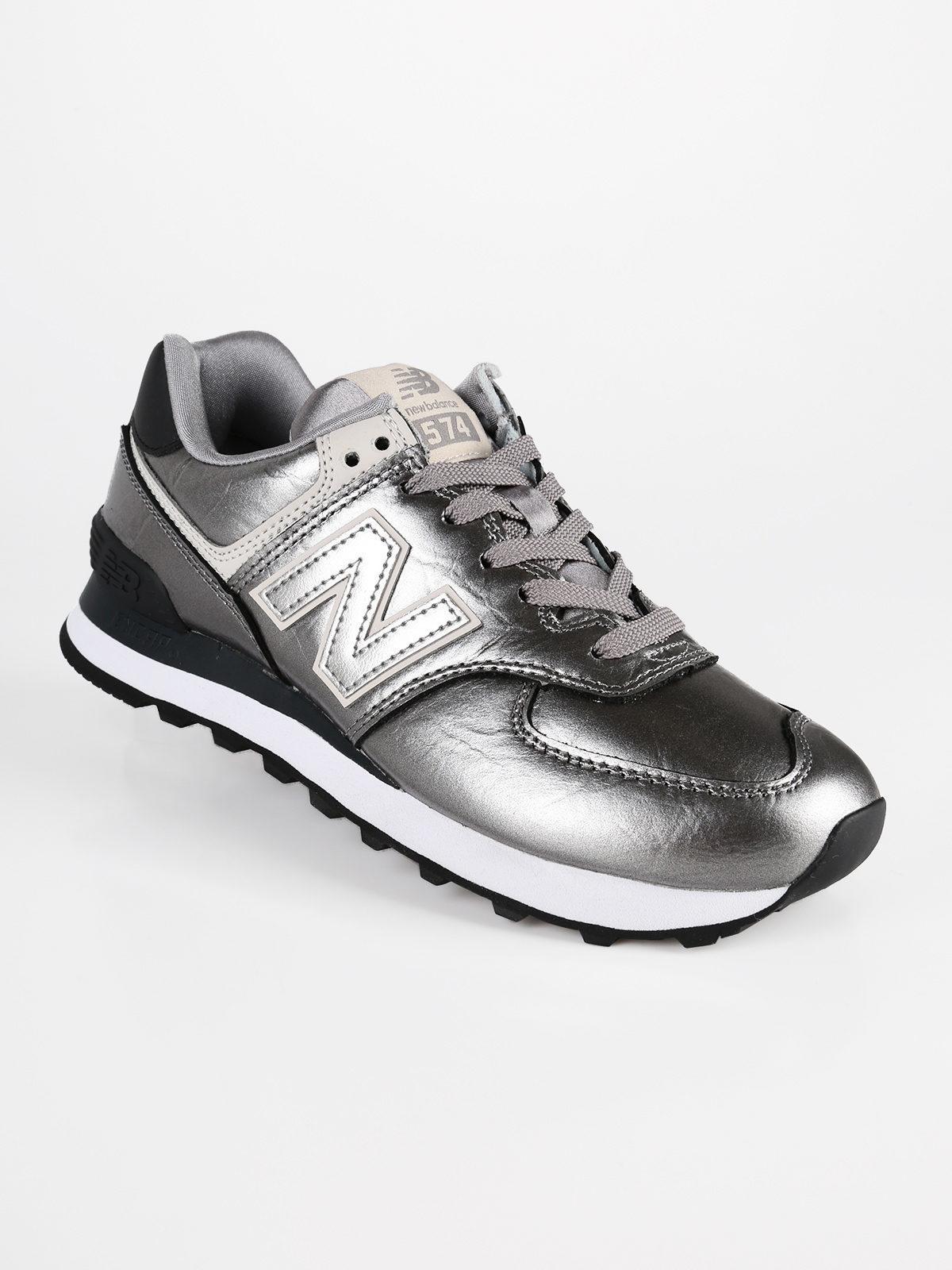New Balance Sneakers basse WL574 argento: Scarpe sportive