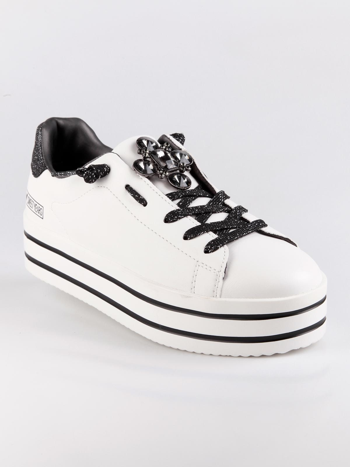 750ff7a529 Sneakers bianche con strass sweet years | MecShopping