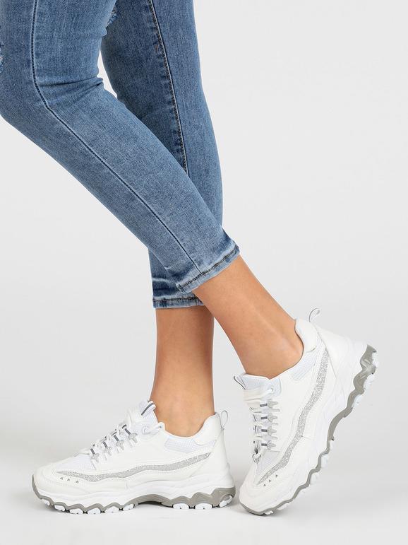 Sneakers bianche con suola alta everlast | MecShopping