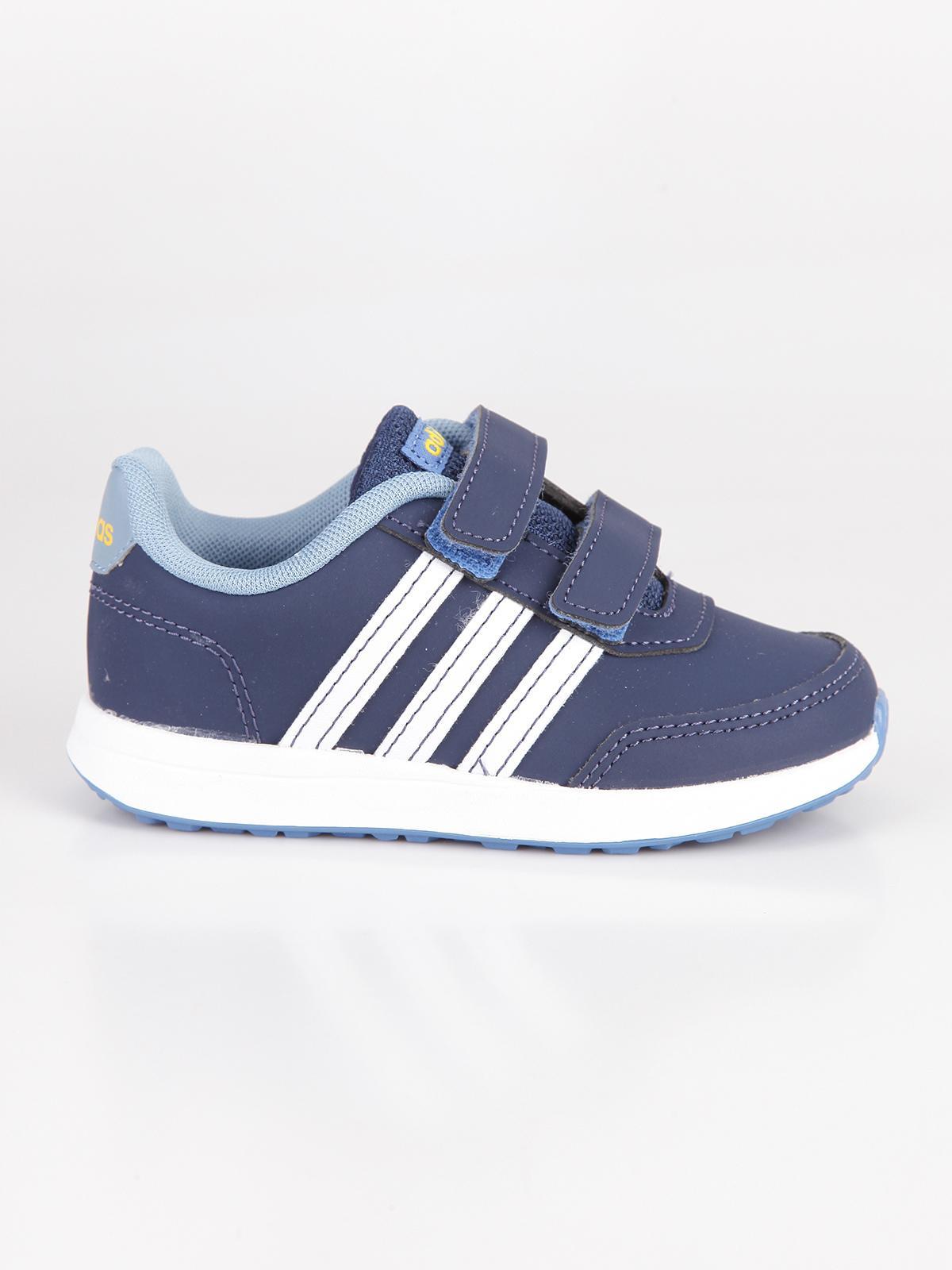 Dettagli su Scarpe Adidas Vs Switch 2 bambino blu sportive con strappo