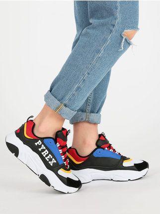 Scarpe sportive alte stivaletti donna sneakers borchie pelle marroni 35 36 39 40