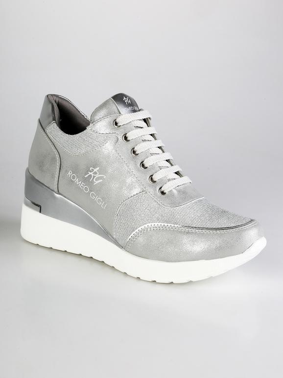 online retailer 43e56 db3fe Sneakers con lurex e zeppa romeo gigli | MecShopping
