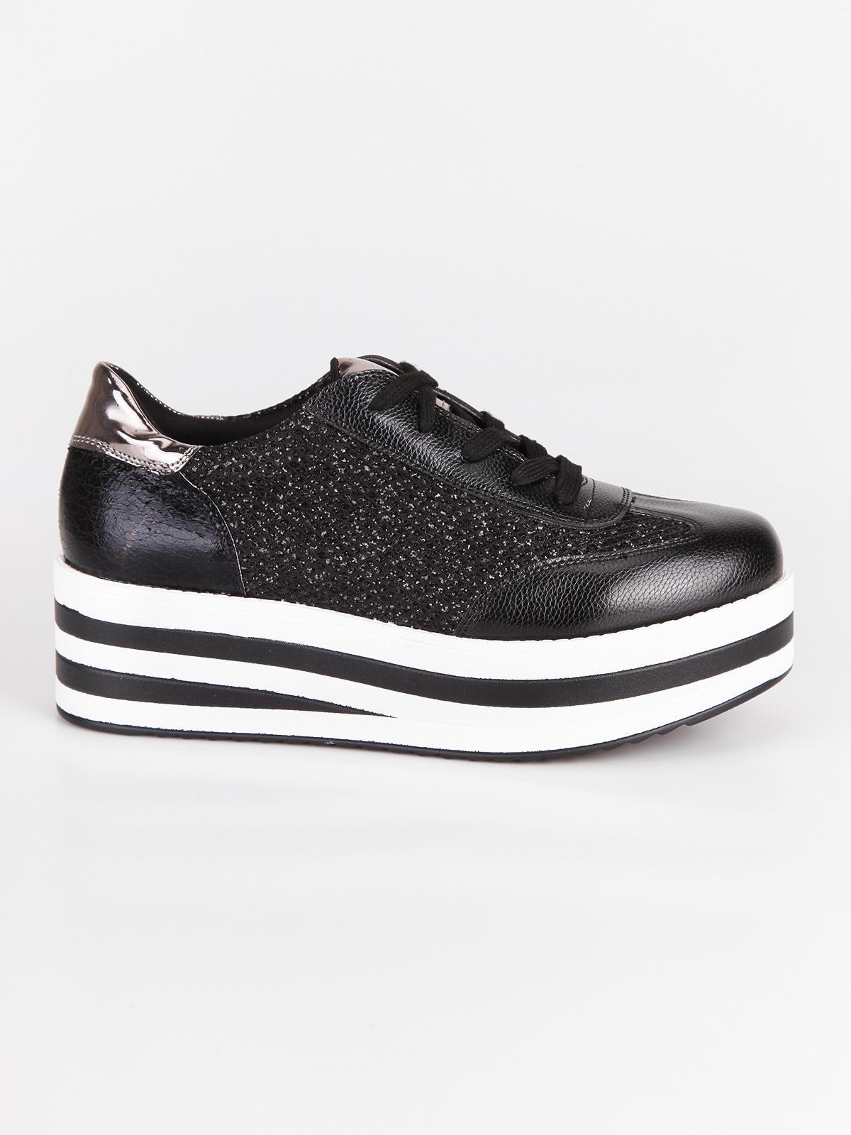 vari stili dopo bellezza Sneakers con platform alto e glitter lovery   MecShopping