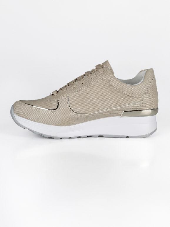 Sneakers con suola alta e strass laura biagiotti