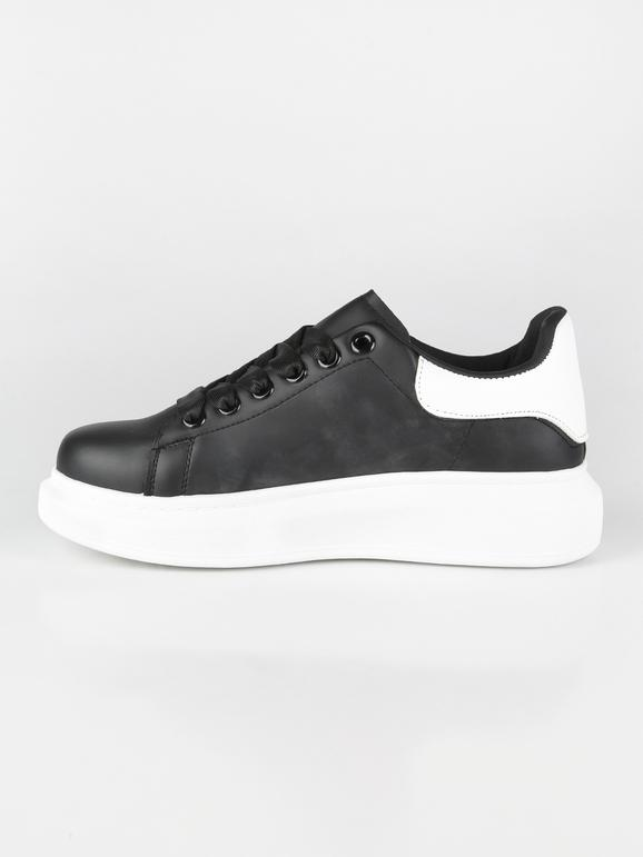 on feet images of new lower prices san francisco Sneakers con suola alta nere renda   MecShopping