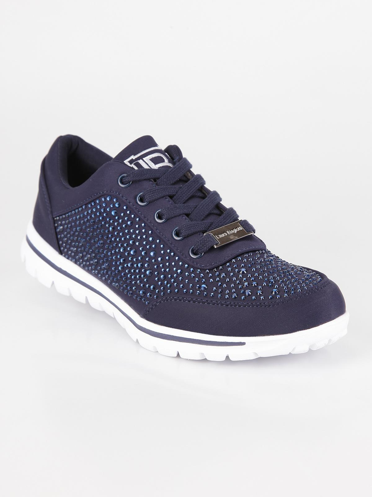 official photos 054d7 293fd Sneakers estive con strass - Blu laura biagiotti | MecShopping