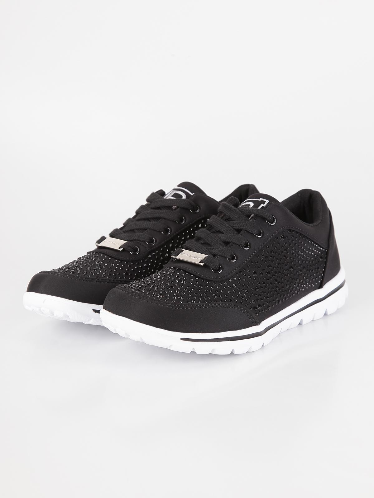 competitive price ab08b 43ef9 Sneakers estive con strass - Nero laura biagiotti | MecShopping