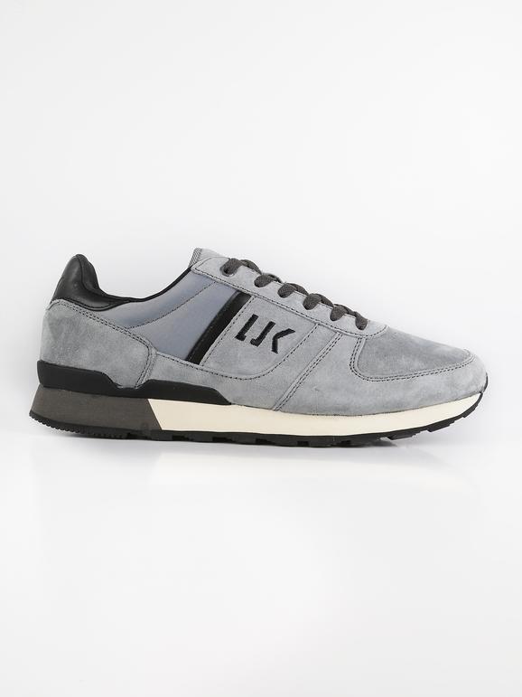Sneakers in pelle e tessuto grigio lumberjack | MecShopping