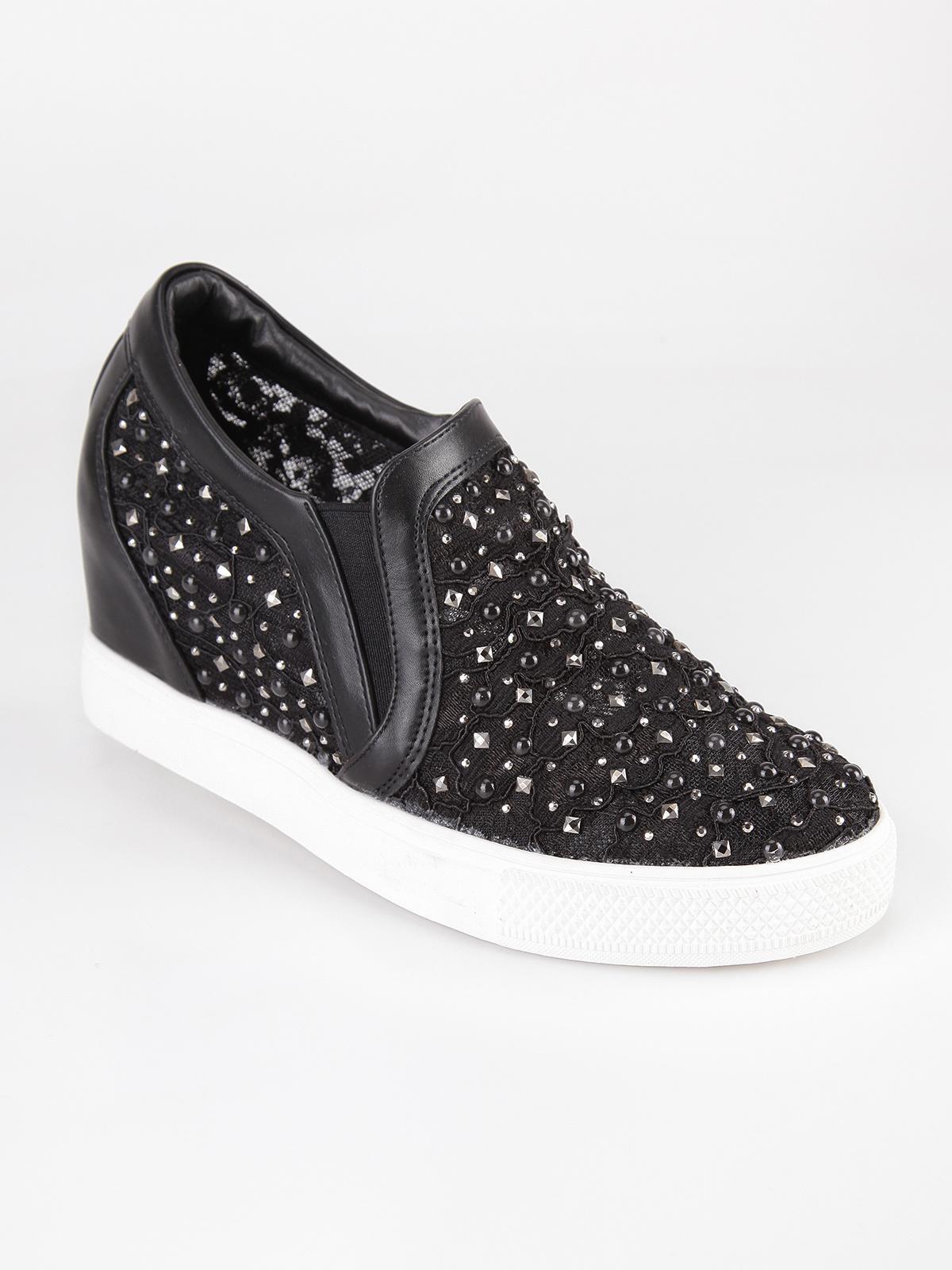 0c7a3ed82f Sneakers in pizzo con zeppa interna janessa | MecShopping