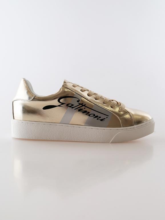 Sneakers oro con zeppa interna gattinoni | MecShopping