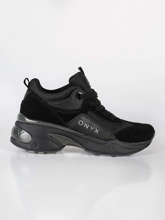 Sneakers stringate con zeppa
