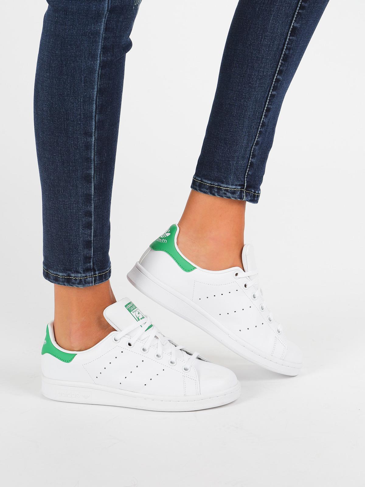 adidas Stan Smith J - white / green | MecShopping