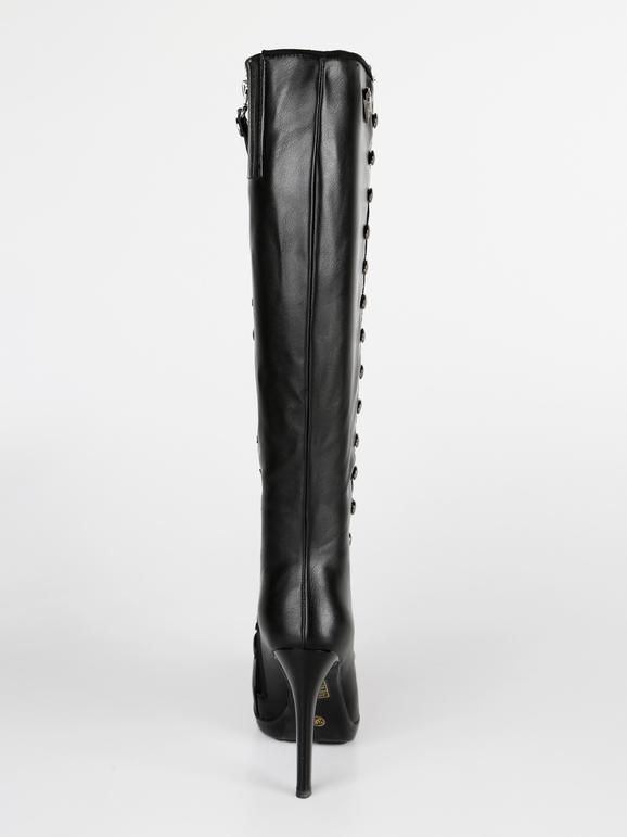 Stivali a punta con tacco braccialini | MecShopping