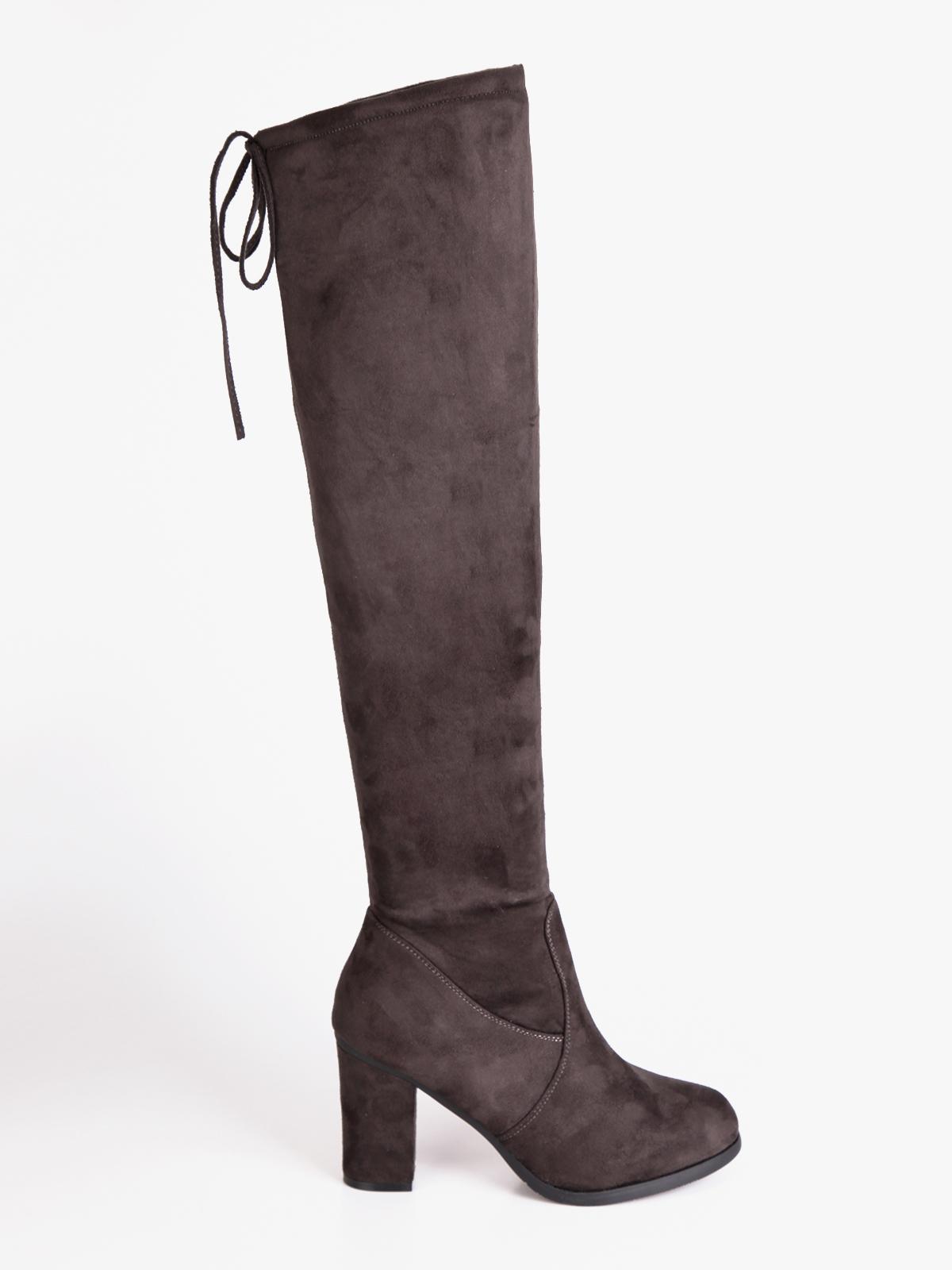 DANDANJIE Stivali da Donna sopra Il Ginocchio con Scarpe
