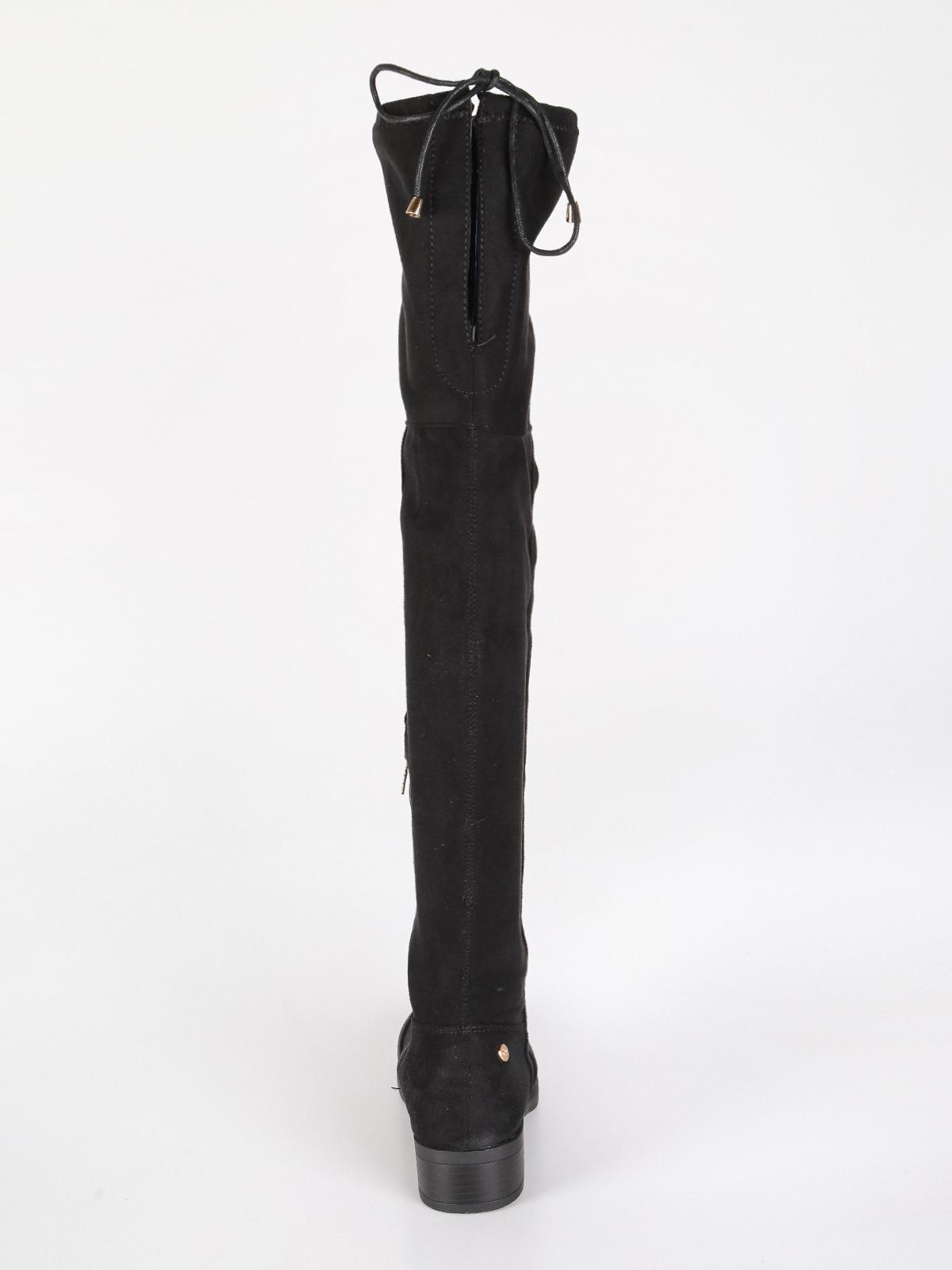 new concept 72260 c8ae5 Stivali al ginocchio scamosciati - nero xti | MecShopping