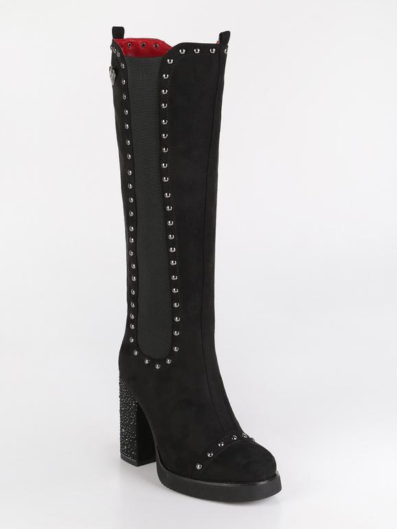grande vendita f57b6 13331 Stivali alti con borchie e tacco largo braccialini | MecShopping
