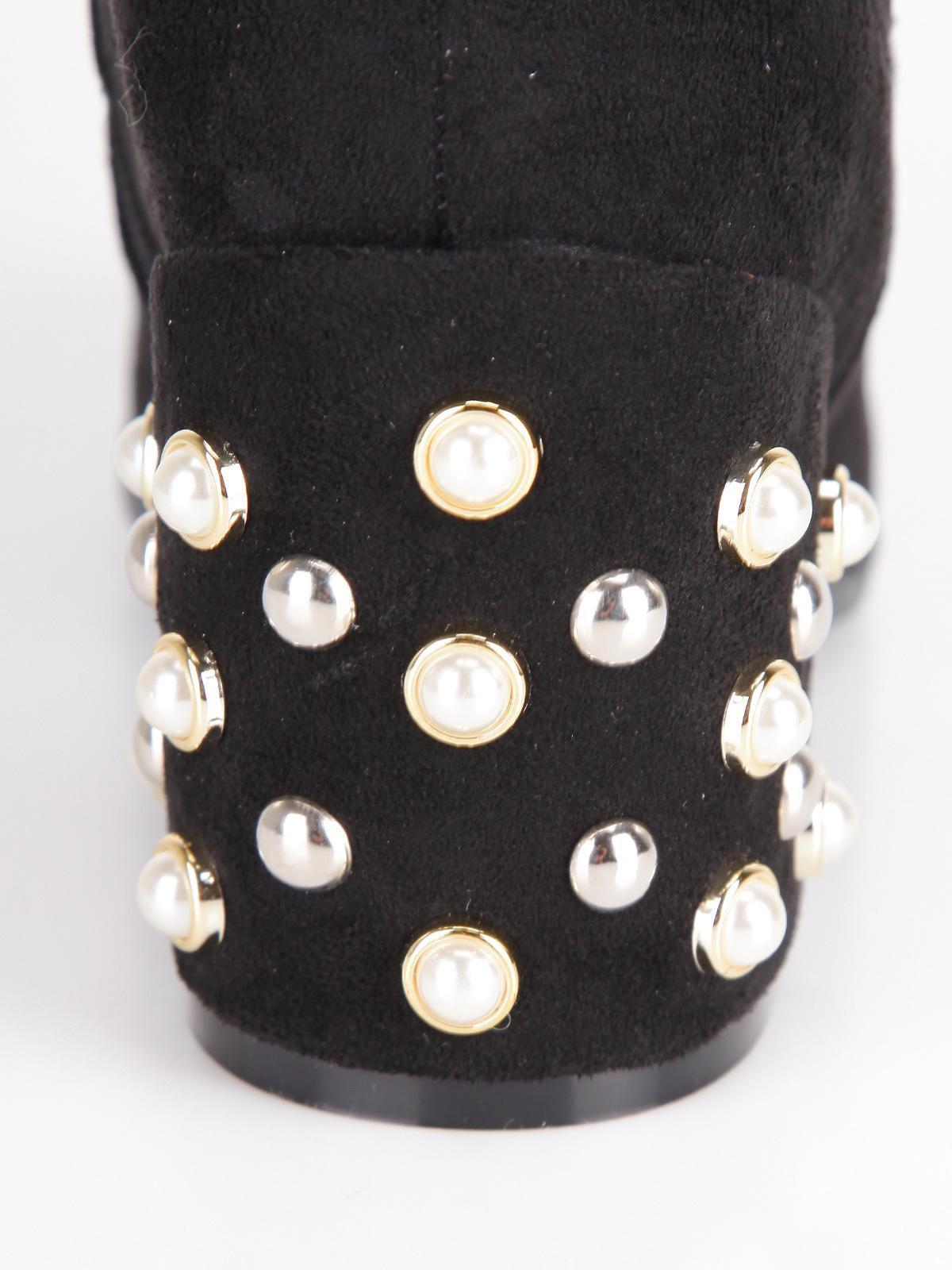 Stivali alti con perle Nero catisa | MecShopping
