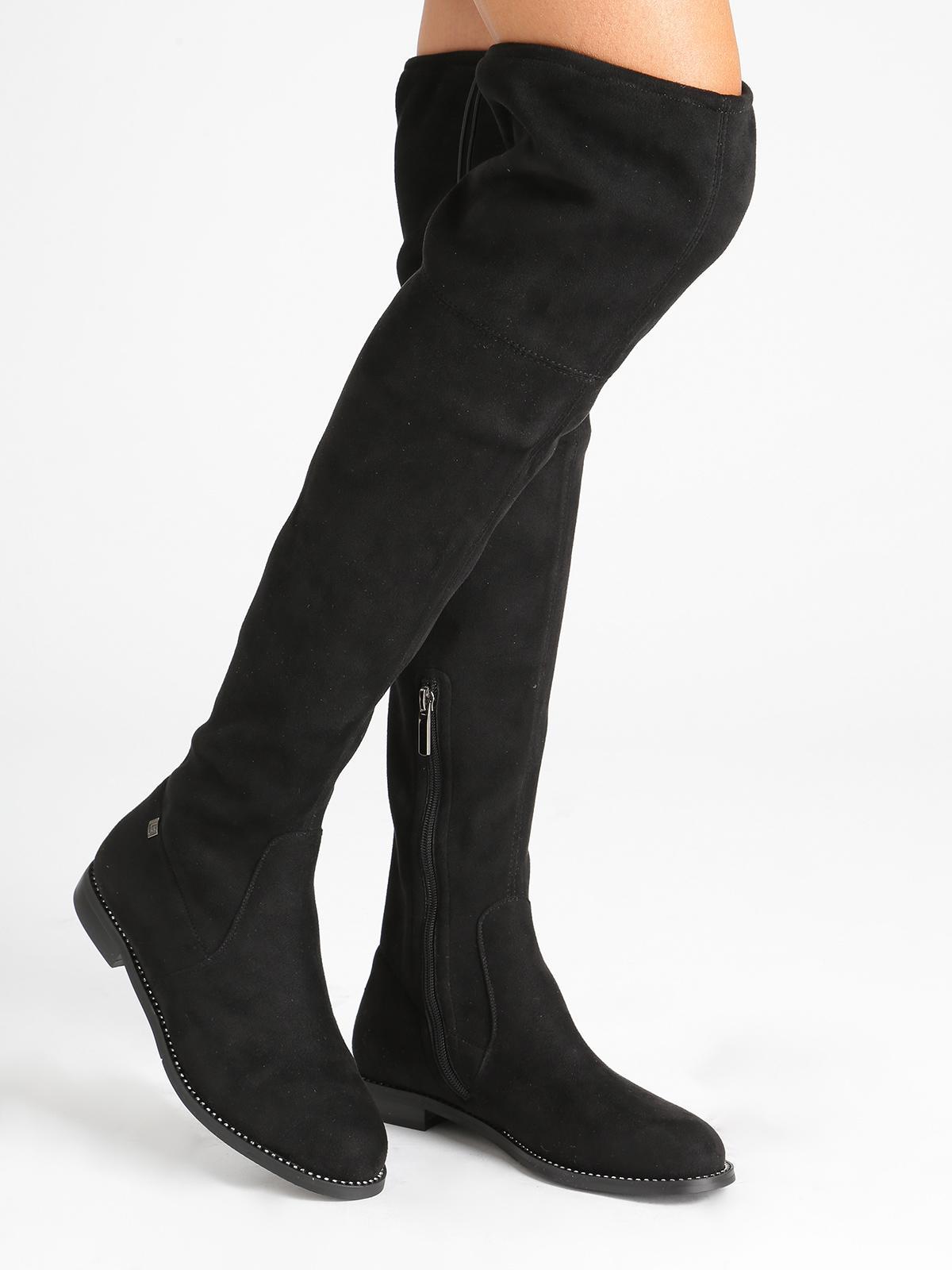 Stivali alti con strass laura biagiotti | MecShopping