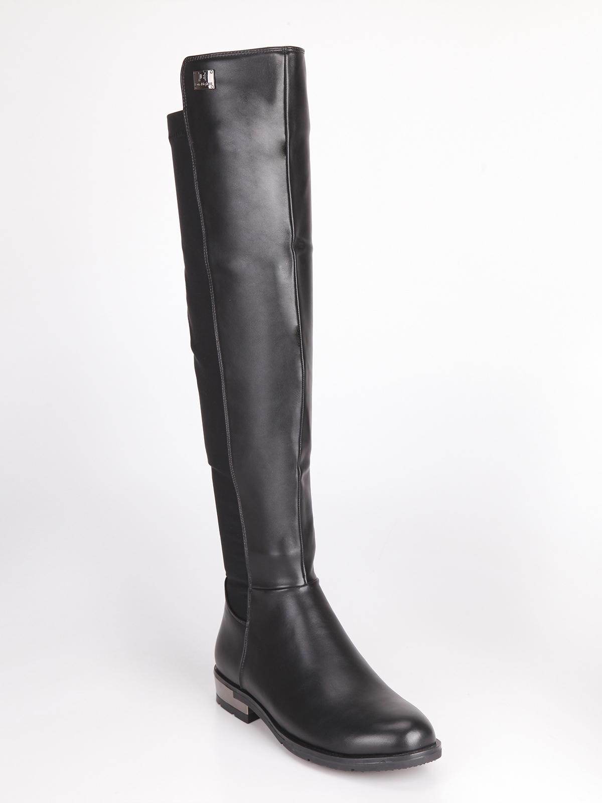 Stivali alti con tacco basso laura biagiotti | MecShopping
