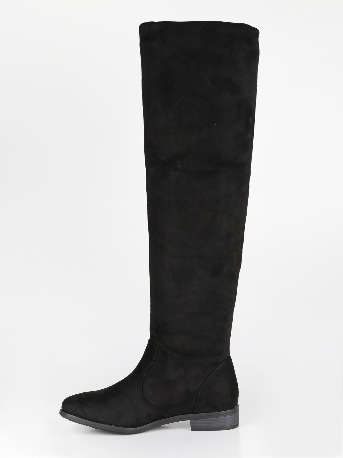 corrispondenza di colore designer nuovo e usato colori armoniosi Stivali bassi al ginocchio janessa | MecShopping