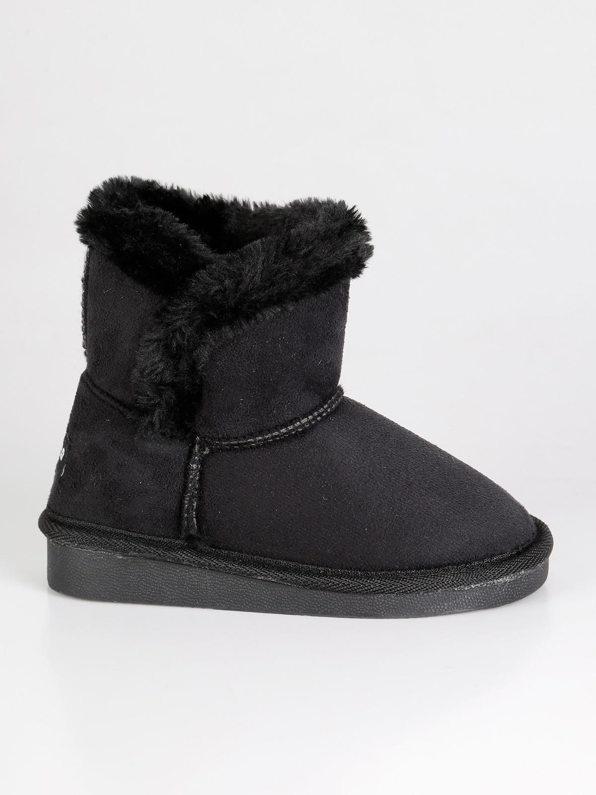 outlet ultimi progetti diversificati moda di lusso Stivali bassi con pelo interno - nero canguro   MecShopping