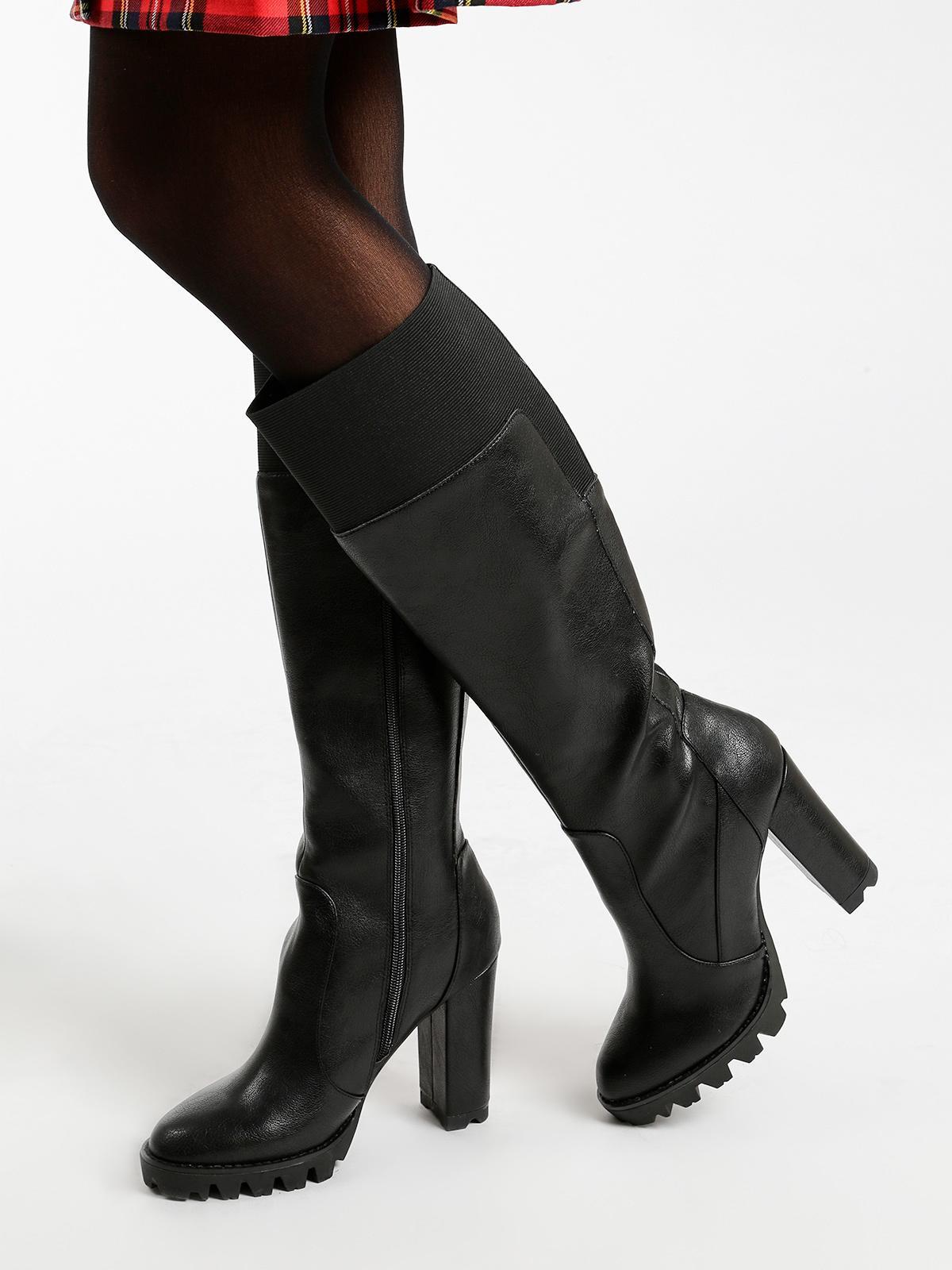 prezzo di fabbrica c2c24 c0c1c Stivali in ecopelle con tacco largo gattinoni | MecShopping