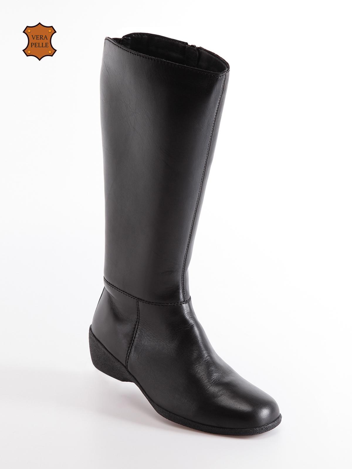 new style 23771 ce376 Stivali in pelle con zeppa bassa solada | MecShopping